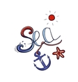 Sea Lettering Color vector image vector image