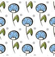 Seamless Pattern Dandelions vector image