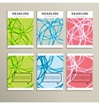 Set of color line banners for abstract design vector image