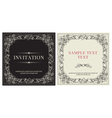 Set of templates for invitation vector image