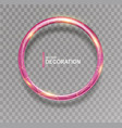shining pink ring abstract glowing round frame vector image