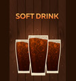 soft drink fast food poster vector image