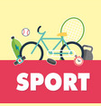 sport bicycle sport equipment background im vector image vector image