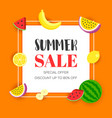 summer sale with tropical fruit vector image vector image