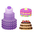 sweet bakery collection poster vector image vector image