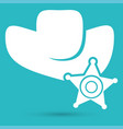 symbol of a sheriff vector image