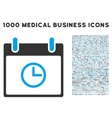 Time Calendar Day Icon With 1000 Medical Business vector image vector image