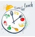 Time for lunch Design element for advertising vector image
