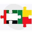 United Arab Emirates and Benin Flags vector image