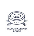 vacuum cleaner robot line icon concept vacuum vector image vector image
