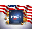 veterans day sale banner or poster template vector image vector image