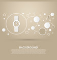 watch icon on a brown background with elegant vector image