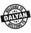 welcome to dalyan black stamp vector image vector image
