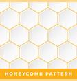 white honeycomb seamless pattern natural honey vector image vector image