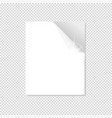 white sheet of paper on a gray background vector image vector image
