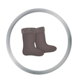 Winter felt boots icon in cartoon style isolated vector image vector image