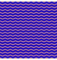 Zigzag blue seamless pattern vector image