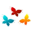 Butterflyes as a colorful blots vector image