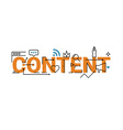 Content word lettering design vector image