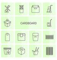 14 cardboard icons vector image vector image