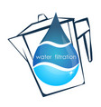 a drop of water and a filter vector image vector image