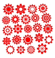 Abstract Cogs Gears on White vector image