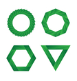 Abstract green geometric Infinite loop icon set vector image vector image