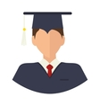 academic graduation man vector image