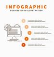 account profile report edit update infographics vector image vector image