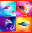 alien spaceship design concept vector image