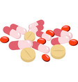 assorted pharmaceutical medicine pills tablets vector image