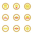 award icons set cartoon style vector image vector image