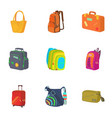 baggage icons set cartoon style vector image vector image