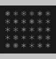 big set snowflakes winter christmas xmas vector image vector image