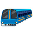 blue train on white background vector image vector image