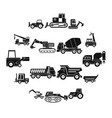 building vehicles icons set simple style vector image vector image