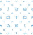 camera icons pattern seamless white background vector image vector image