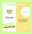 carton company brochure template busienss template vector image vector image