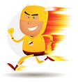 comic fast running superhero vector image vector image