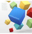 construction concept with 3d cubes vector image