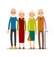 couple older people two aged people stand vector image