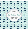 Cute blue tribal pixels pattern and white label vector image vector image