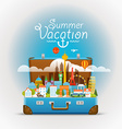 Dirrefent world famous sights Summer vacation vector image vector image