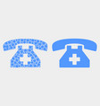 dot and flat first aid phone icon vector image vector image