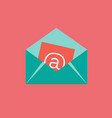 envelope mail icon set of great flat icons with vector image vector image