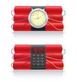 explosive dynamite and clockwork vector image vector image
