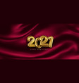 festive banner with volumetric golden numbers vector image vector image