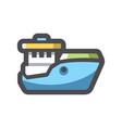 fishing big ship icon cartoon vector image