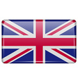 Flags United Kingdom in the form of a magnet on vector image vector image