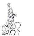 flamenco dancer in expressive impressive pose vector image vector image